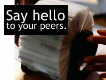 Say hello to your peers.